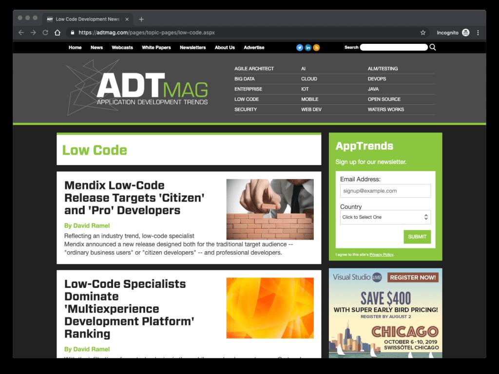 ADTMag Low Code
