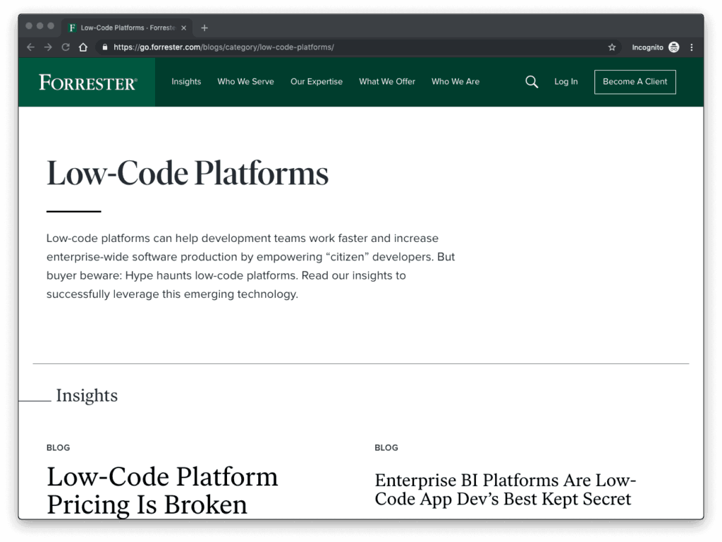 Forrester Low Code