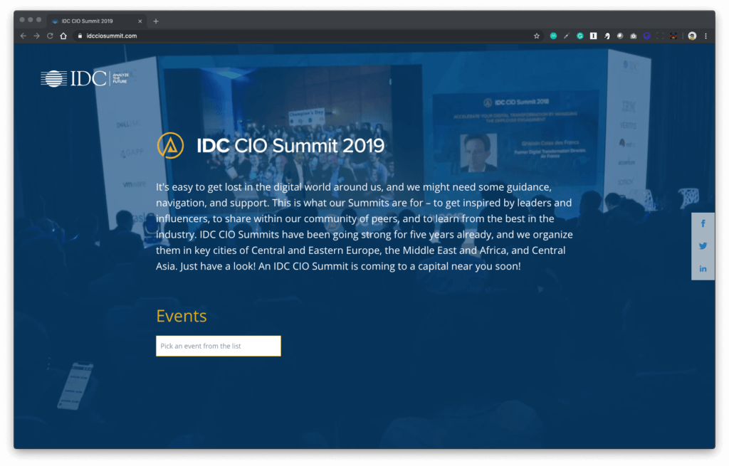 idc conference