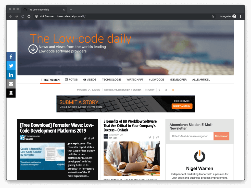 Low Code daily