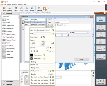 Visual designer low code platform
