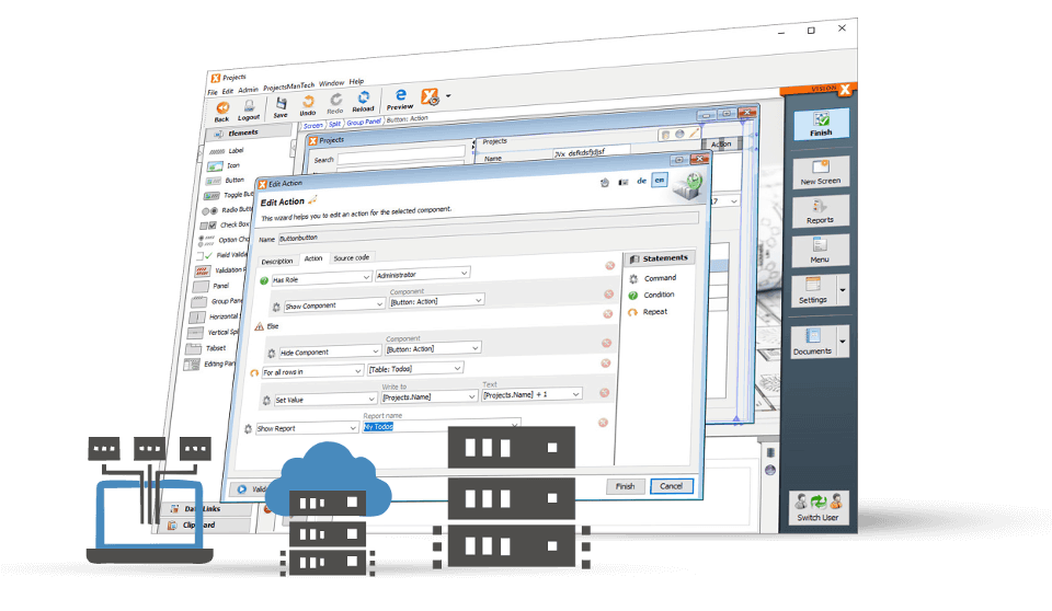 VisionX works great with the Cloud and On-premise