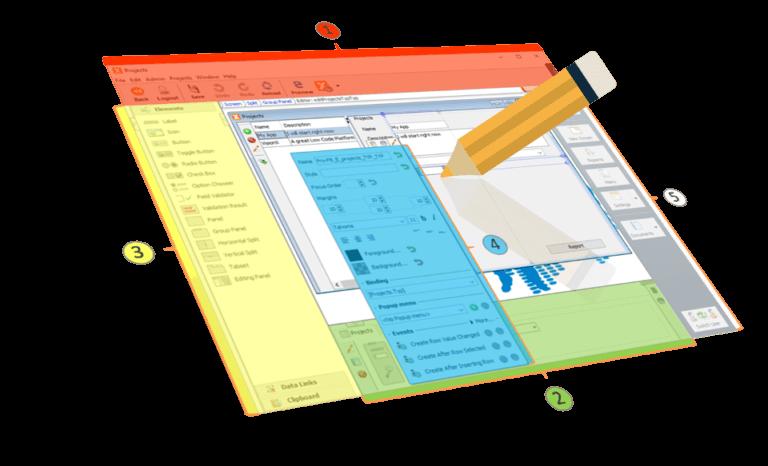 visual web application development tool VisionX