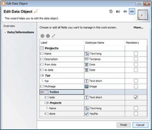 data model editor for department user